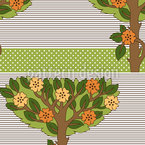 Ethnic Tree Seamless Vector Pattern Design