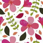 Zarte Blüten und Blütenblätter Muster Design
