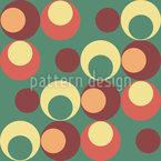 时髦的圆球 无缝矢量模式设计