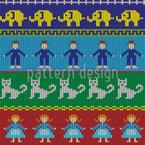 Stricken Für Kinder Vektor Ornament