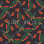 Fragmented Round Balls Seamless Pattern