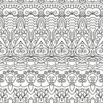 Lined Oriental Bordures Seamless Vector Pattern Design