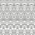 Linierte Orientalische Bordüren Nahtloses Vektormuster