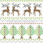 Nordic Knitting Seamless Vector Pattern Design