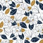 Magnolia In Bloom Pattern Design