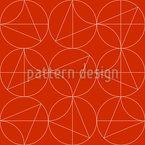 Kreis Tangram Nahtloses Vektormuster