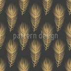 Fine Plumage Seamless Vector Pattern