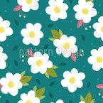 Flores de Ovo Design de padrão vetorial sem costura