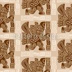 Aztekischer Adlerkrieger Nahtloses Vektormuster