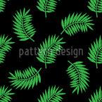 Palmblatt Stickerei Nahtloses Vektormuster