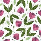 Tulpen Werfen Muster Design