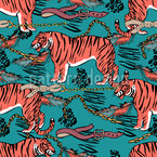 Tigers Seamless Vector Pattern Design
