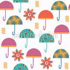 Guarda-chuvas Design de padrão vetorial sem costura