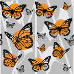 Monarchenschmetterlinge Nahtloses Vektormuster