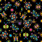 Tingel Tangle Black Seamless Vector Pattern Design