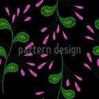 Stickerei Blumen Nahtloses Vektormuster