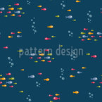 Crossing Fishes Repeating Pattern