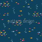 Querende Fische Nahtloses Vektormuster