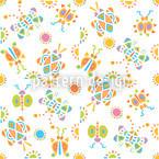 Kribbel Krabbel Bunt Nahtloses Vektor Muster