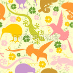 Exotische Tiere Vektor Ornament