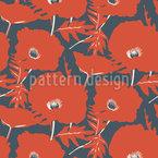 Sommer Der Mohnblumen Rapportiertes Design