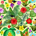 Natureza Exótica Design de padrão vetorial sem costura