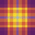 夏のタータン織り シームレスなベクトルパターン設計