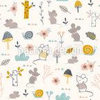 Mäuse und Schnecken Vektor Muster