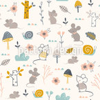 Mice And Snails Vector Pattern