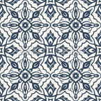 Medieval Symmetry Seamless Vector Pattern Design