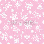 Tingle Tangle Pink Seamless Vector Pattern Design