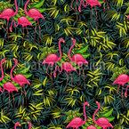 Flamingos In Den Tropen Nahtloses Vektormuster