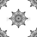 Barockes Mandala Muster Design