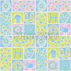 Patchwork Pets Seamless Vector Pattern Design