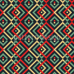 African Pixel Repeat Pattern