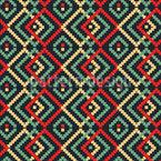 Afrikanisches Pixel Nahtloses Vektormuster