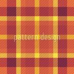 Tissage Tartan Chaud Motif Vectoriel Sans Couture