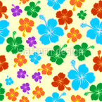 Hibiscus Vibes Vector Pattern