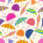 Neue Regenschirme Nahtloses Vektormuster