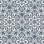 Mittelalterliche Blumen Symmetrie Nahtloses Vektormuster