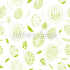 Elegant Easter Eggs Seamless Vector Pattern Design