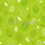 Illustrated Easter Eggs Seamless Vector Pattern Design