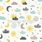 A Day Passes By Seamless Vector Pattern Design