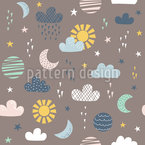 A Day In Your Life Seamless Vector Pattern Design