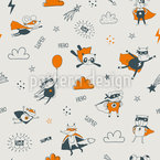 Superhero Animals Pattern Design