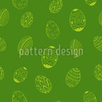 Cutie Easter Eggs Seamless Vector Pattern Design