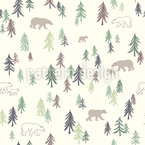 Bear Forest Pattern Design