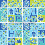 Patchwork Pet Fun Seamless Vector Pattern Design
