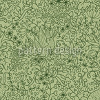 Rabbits On The Meadow Seamless Vector Pattern Design