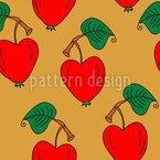 Apfel Versuchung Vektor Muster